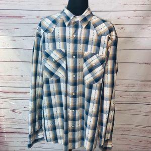 Lucky Brand  Long Sleeve Western Pearl Snap Shirt